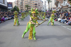 Badajoz καρναβάλι 2016 Παρέλαση συγκροτημάτων Στοκ Εικόνα