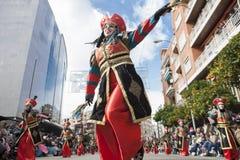 Badajoz καρναβάλι 2016 Παρέλαση συγκροτημάτων Στοκ εικόνα με δικαίωμα ελεύθερης χρήσης