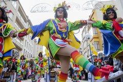 Badajoz καρναβάλι 2016 Παρέλαση συγκροτημάτων Στοκ Φωτογραφία