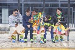 Badajoz Carnival 2016. San Roque parade Stock Images
