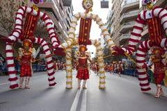 Badajoz Carnival 2016. Troupe parade Royalty Free Stock Photography