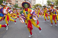 Badajoz Carnival 2016. Troupe parade Stock Photography