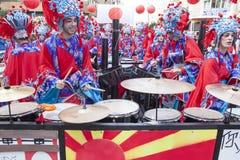 Badajoz Carnival 2016. Troupe parade Royalty Free Stock Photos