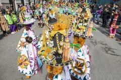 Badajoz Carnival 2016. Troupe parade Royalty Free Stock Photo