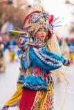 Badajoz, España - 24 de febrero de 2017: Niños que participan en el desfile de carnaval del ` s de los niños en Badajoz Foto de archivo libre de regalías