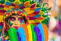Badajoz, España - 24 de febrero de 2017: Niños que participan en el desfile de carnaval del ` s de los niños en Badajoz Fotos de archivo