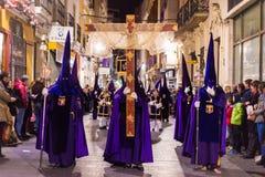 Badajoz, España - 22 de marzo de 2016: Semana Semana Papá Noel, Naz de Pascua Fotografía de archivo