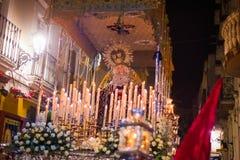 Badajoz, España - 22 de marzo de 2016: Semana Semana Papá Noel, Naz de Pascua Imagen de archivo libre de regalías