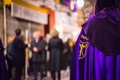 Badajoz, España - 22 de marzo de 2016: Semana Semana Papá Noel, Naz de Pascua Imagen de archivo