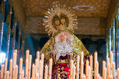Badajoz, España - 22 de marzo de 2016: Semana Semana Papá Noel, Naz de Pascua Imagenes de archivo