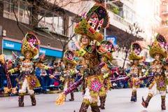 Badajoz, Espagne - 24 février 2017 : Enfants participant au défilé de carnaval du ` s d'enfants à Badajoz Photographie stock libre de droits