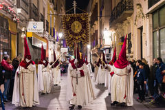 Badajoz, Espanha - 22 de março de 2016: Semana Semana Santa da Páscoa, Naz Fotos de Stock Royalty Free