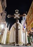 Badajoz Hiszpania, Marzec, - 25, 2016: Wielkanocny tydzień Semana Santa, Naz Zdjęcie Stock