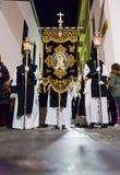 Badajoz Hiszpania, Marzec, - 25, 2016: Wielkanocny tydzień Semana Santa, Naz Obraz Royalty Free