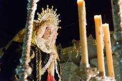 Badajoz Hiszpania, Marzec, - 25, 2016: Wielkanocny tydzień Semana Santa, Naz Obrazy Royalty Free