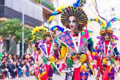 Badajoz, Hiszpania, Niedziela odchodowy 26 2017 uczestników w colorf obrazy stock