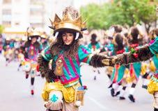 Badajoz, Hiszpania, Niedziela odchodowy 26 2017 uczestników w colorf fotografia royalty free