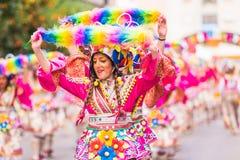 Badajoz, Hiszpania, Niedziela odchodowy 26 2017 uczestników w colorf zdjęcie royalty free