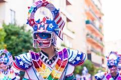 Badajoz, Hiszpania, Niedziela odchodowy 26 2017 uczestników w colorf zdjęcia stock