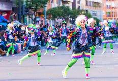 Badajoz, Hiszpania, Niedziela odchodowy 26 2017 uczestników w colorf zdjęcie stock