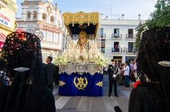 Badajoz Hiszpania Poniedziałek fartuch 16 2017 Bractwo i Brotherho obraz royalty free