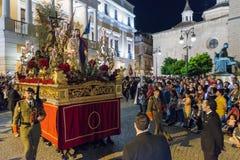 Badajoz Hiszpania Poniedziałek fartuch 10 2017 bractwo i Brotherhoo zdjęcie royalty free