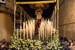 Badajoz Hiszpania Poniedziałek fartuch 10 2017 bractwo i Brotherhoo zdjęcia royalty free