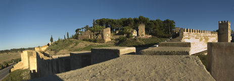 Badajoz muslin fortifications panoramic Royalty Free Stock Photos