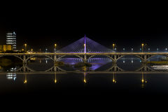 Badajoz at night Royalty Free Stock Image