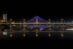 Badajoz på natten Royaltyfri Bild