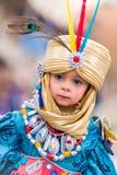 Badajoz, Spagna - 24 febbraio 2017: Bambini che partecipano alla parata di carnevale del ` s dei bambini a Badajoz Fotografie Stock Libere da Diritti