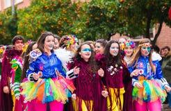 Badajoz, Spagna, sabato febbraio 20 2017 partecipanti a colo Fotografia Stock