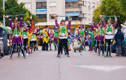 Badajoz, Spagna, sabato febbraio 20 2017 partecipanti a colo Fotografie Stock