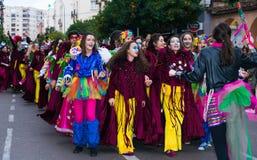 Badajoz, Spagna, sabato febbraio 20 2017 partecipanti a colo Fotografia Stock Libera da Diritti