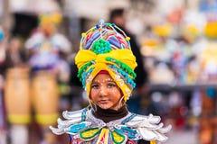 Badajoz, Spanien - 24. Februar 2017: Kinder, die an der Kind-` s Karnevalsparade in Badajoz teilnehmen Lizenzfreie Stockfotos