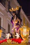 Badajoz, Spanien - 22. März 2016: Ostern-Woche Semana Sankt, Naz Lizenzfreie Stockfotografie