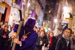 Badajoz, Spanien - 22. März 2016: Ostern-Woche Semana Sankt, Naz Lizenzfreies Stockfoto