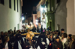 Badajoz, Spanien - 25. März 2016: Ostern-Woche Semana Sankt, Naz Lizenzfreie Stockbilder