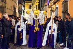 Badajoz, Spanien - 21. März 2016: Ostern-Woche Semana Sankt, Naz Stockbild