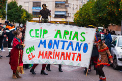 Badajoz, Spanien, Samstag februar 20 2017 Teilnehmer an colo Lizenzfreie Stockfotografie