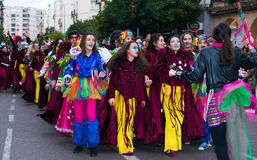 Badajoz, Spanien, Samstag februar 20 2017 Teilnehmer an colo Lizenzfreies Stockfoto