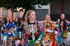 Badajoz, Spanien, Samstag februar 20 2017 Teilnehmer an colo Lizenzfreies Stockbild