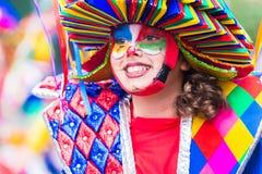 Badajoz, Spanien, Sonntag februar 26 2017 Teilnehmer an colorf stockbild