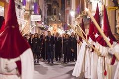 Badajoz, Spanje - Maart 22, 2016: Pasen-de Kerstman van weeksemana, Naz Stock Afbeeldingen