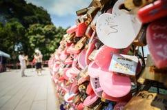 badaling τοίχος αγάπης κλειδωμάτων του Πεκίνου Κίνα μεγάλος στοκ εικόνα