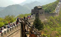 badaling Великая Китайская Стена фарфора Стоковое Изображение