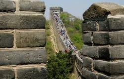 Badaling, Cina: La Grande Muraglia della Cina Fotografie Stock Libere da Diritti