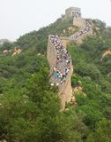 Badaling Great Wall. Is the site of the most visited section of the Great Wall of China, approximately 80 kilometres 50 mi northwest of urban Beijing city in royalty free stock photos