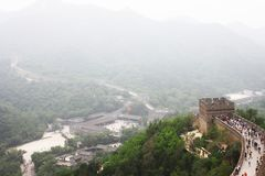 Badaling Great Wall. Is the site of the most visited section of the Great Wall of China, approximately 80 kilometres 50 mi northwest of urban Beijing city in stock photos