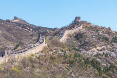 Badaling Great Wall of Beijing in China Royalty Free Stock Photo